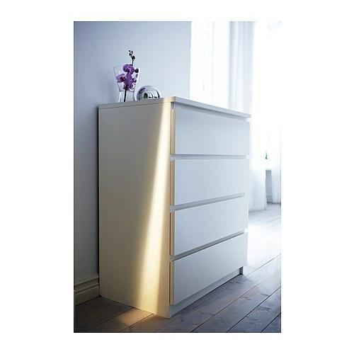 IKEA, MALM,Komoda, 4 szuflady, biały,299zł