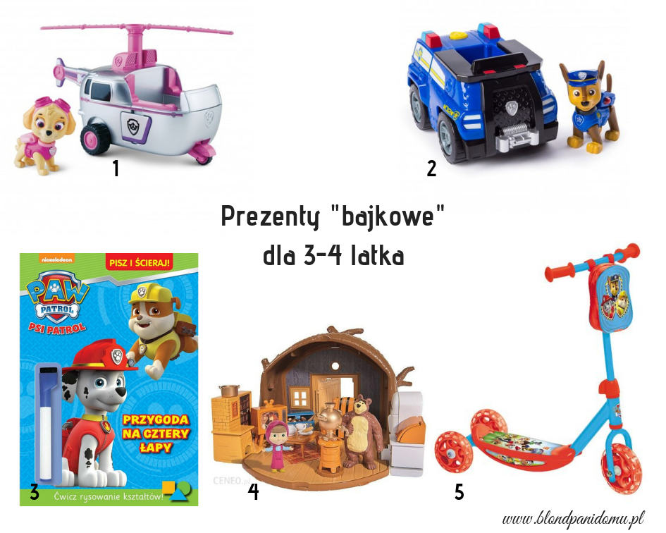 prezenty dla 4 latka