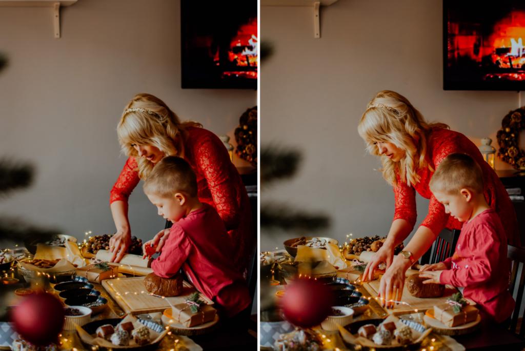 bożonarodzeniowy stół