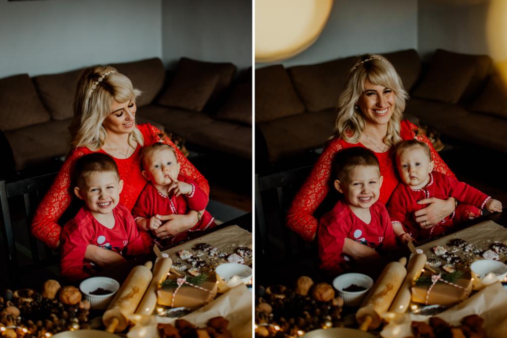 mama i dzieci świątecznie