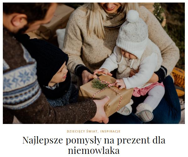 prezenty dla niemowlaka
